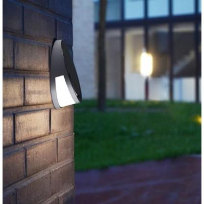 Στεγανή απλίκα αλουμινίου LED Ø18.6cm ανθρακί