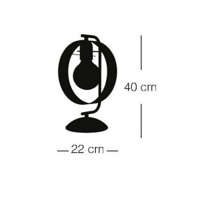 Επιτραπέζιο φωτιστικό με στεφάνι Ø22cm