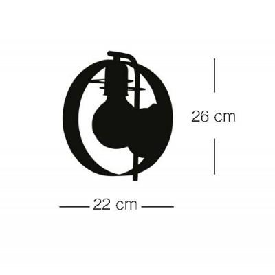 Μεταλλική απλίκα Ø22cm
