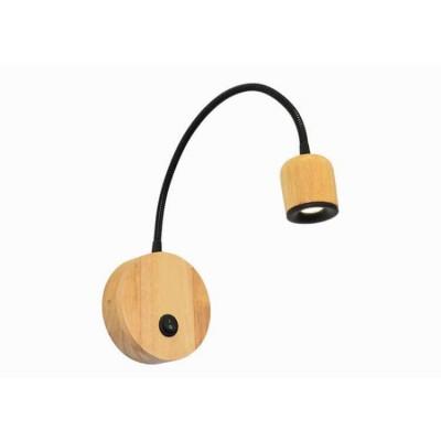 Απλίκα reading LED με ξύλινα μέρη μήκους 32cm