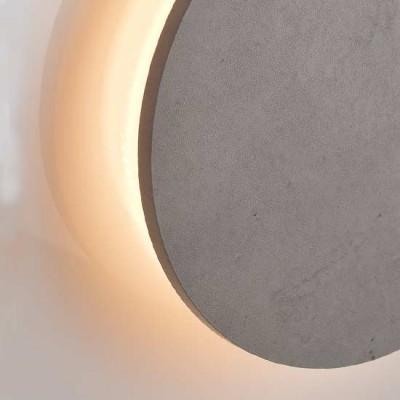 Ξύλινη απλίκα LED Ø31cm έμμεσου φωτισμού