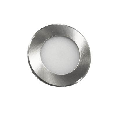 Νίκελ ματ χωνευτό σποτ Ø7cm με τρύπα κοπής Ø5cm LED 2W