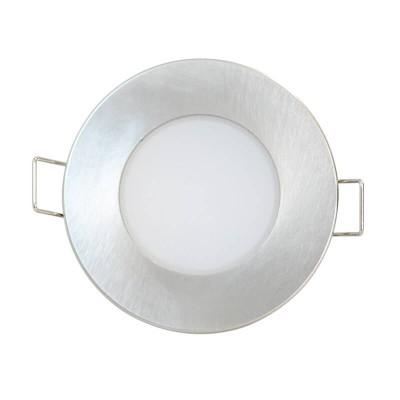 Νίκελ ματ χωνευτό σποτ Ø9cm με τρύπα κοπής Ø7cm LED 5W