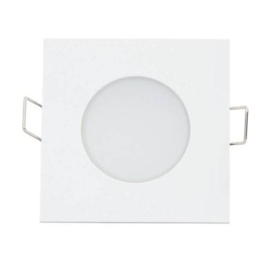 Λευκό χωνευτό σποτ 8.2x8.2cm με τρύπα κοπής Ø6.5cm LED 5W