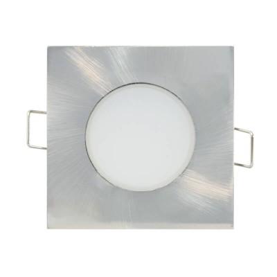 Νίκελ ματ χωνευτό σποτ 8.2x8.2cm με τρύπα κοπής Ø6.5cm LED 5W