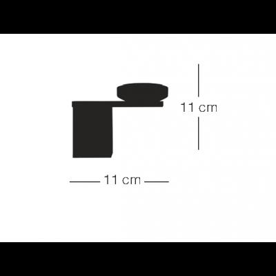 Σποτ οροφής περιστρεφόμενο με ξύλινο κυλινδράκι Ø6cm