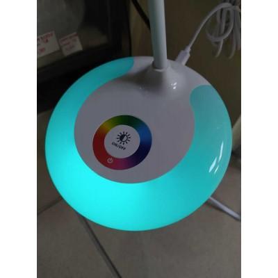 Φωτιστικό γραφείου LED με φως RGB στη βάση