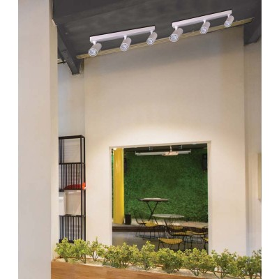 Τρίφωτο σποτ οροφής GU10 45cm