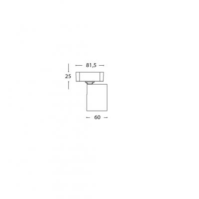 Σποτ οροφής GU10 8x8cm