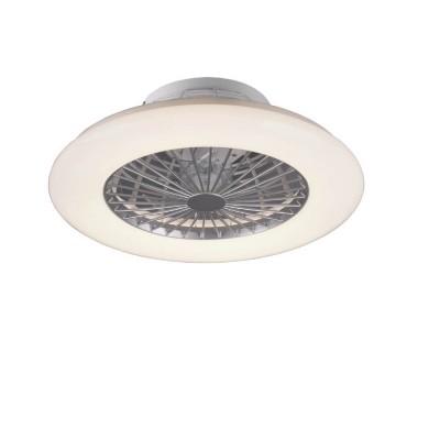Ανεμιστήρας οροφής Ø50cm πλαστικός LED DIMMABLE