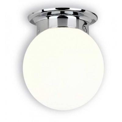 Γυάλινος γλόμπος Ø15cm χρώμιο με λευκό ACA