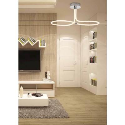 Φωτιστικό οροφής LED ∅85cm με κυκλικό μοντέρνο σχέδιο