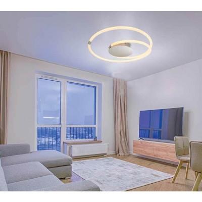 Μοντέρνα πλαφονιέρα οροφής LED κυκλική ∅60cm