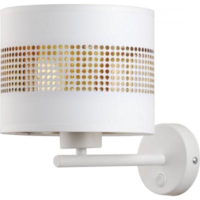 Λευκό-χρυσό φωτιστικό τοίχου με τρυπητό αμπαζούρ Ø20cm