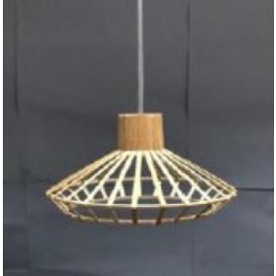 Κρεμαστό φωτιστικό με πλέγμα από μπαμπού Ø25cm