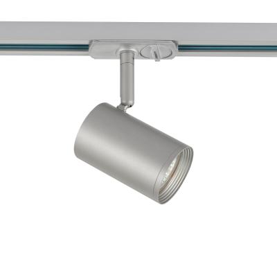 Μονοφασικό σποτ ράγας κυλινδρικό Ø6x9cm με ρυθμιζόμενο βραχίονα από αλουμίνιο