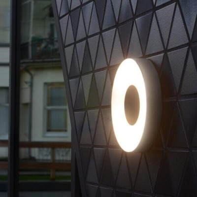 Στεγανό φωτιστικό τοίχου ή οροφής Φ26cm στρογγυλό γκρι