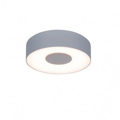 Στεγανό φωτιστικό τοίχου ή οροφής Φ19cm στρογγυλό γκρι