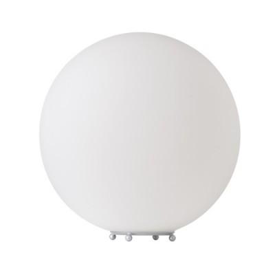 Πορτατίφ κομοδίνου γυάλινο λευκό σε σχήμα μπάλας