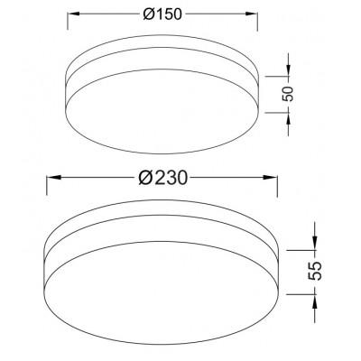 Κυκλικό φωτιστικό με αμμοβολή γυαλί ACA