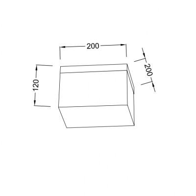 Φωτιστικό οροφής 20x20cm ACA