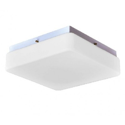 Τετράγωνο φωτιστικό με λευκό ματ γυαλί ACA