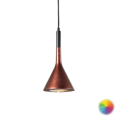 Τσιμεντένιο κρεμαστό φωτιστικό τριγωνικό Ø18cm