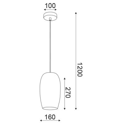 Μοντέρνο φωτιστικό με τρυπητή κεφαλή Ø16cm ACA