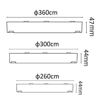 Στρογγυλή στεγανή πλαφονιέρα από θερμοπλαστικό ABS
