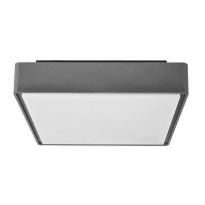 Τετράγωνη πλαφονιέρα LED στεγανή από θερμοπλαστικό ABS