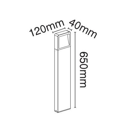 Κολωνάκι ορθογώνιο 65cm