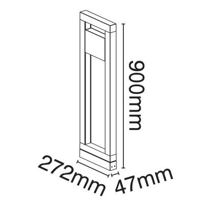 Κολωνάκι ορθογώνιο 90cm