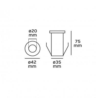 Χωνευτό σποτ inox Ø4cm