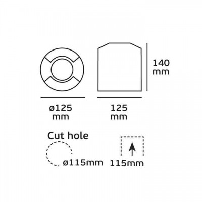 Χωνευτό σποτ Ø12cm διπλής δέσμης