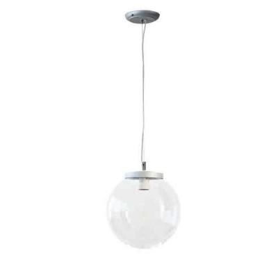 Στεγανό κρεμαστό φωτιστικό μπάλα Φ20cm αλουμίνιο με ακρυλικό
