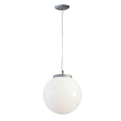 Στεγανό κρεμαστό φωτιστικό μπάλα Φ25cm αλουμίνιο με ακρυλικό