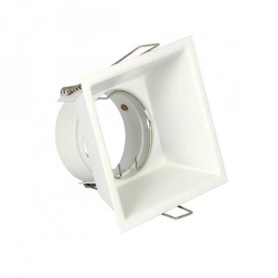 Χωνευτό σποτ trimless τετράγωνο πλευράς 8.8cm με τρύπα κοπής Ø8cm GU10 PAR16