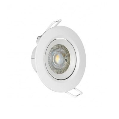 Κινητό χωνευτό σποτ Ø9cm με τρύπα κοπής Ø7.5cm LED 5W