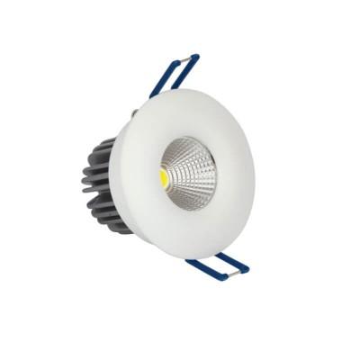 Λευκό χωνευτό σποτ Ø8.2cm με τρύπα κοπής Ø7cm LED 10W
