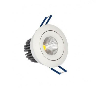 Κινητό χωνευτό σποτ Ø8.2cm με τρύπα κοπής Ø7cm LED 10W