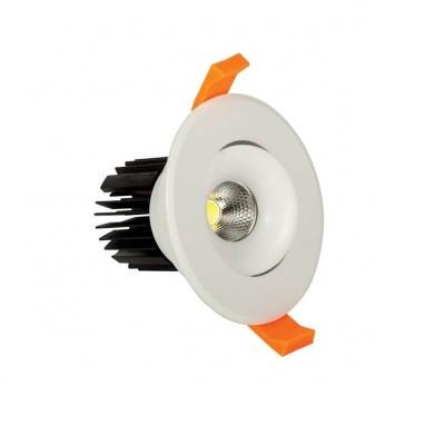 Κινητό χωνευτό σποτ Ø9.5cm λευκό LED 10W