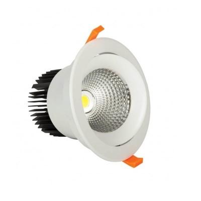 Κινητό χωνευτό σποτ Ø15cm λευκό LED 30W