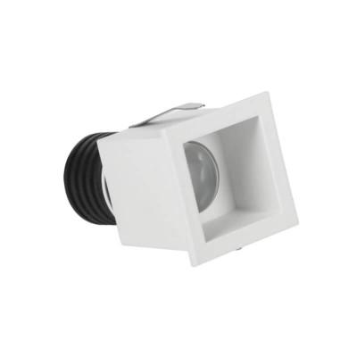 Χωνευτό σποτ πλευράς 4.2cm με τρύπα κοπής Ø3.5m λευκό LED 3W 3000K