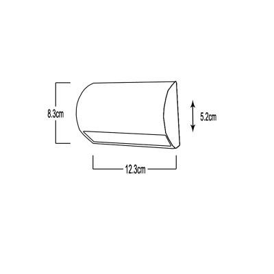 Στεγανή απλίκα λευκή LED 12x8cm