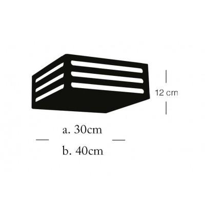 Ξύλινη πλαφονιέρα οροφής