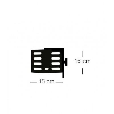 Ξύλινη απλίκα με μεταλλικές λεπτομέρειες