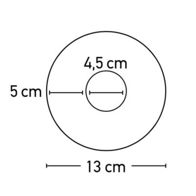 Χωνευτό σποτ στρογγυλό Ø13cm γύψινο λευκό