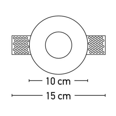 Χωνευτό σποτ στρογγυλό Ø10cm από τσιμέντο