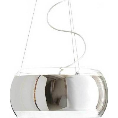 Τρίφωτο κρεμαστό φωτιστικό Ø40cm γυάλινο ημιδιάφανο