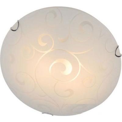 Πλαφονιέρα οροφής γυάλινη με διάφανα σχέδια